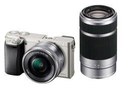 Sony A6000 - zilver - Body + 16-50 + 55-210