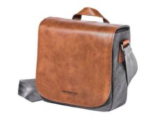 Olympus Mini Messenger Bag - Leather/Canvas