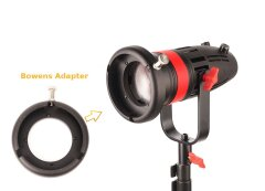 CAME-TV Boltzen 55w Fresnel Focusable LED Daylight + Bowens Mount Ring Adapter